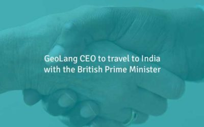 GeoLang Ventures to India with British Prime Minister