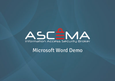 Ascema for Microsoft Word Demo