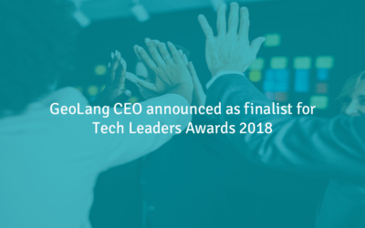 GeoLang CEO announced as finalist for Tech Leaders Awards 2018