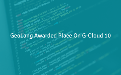 GeoLang Awarded Place on G-Cloud 10