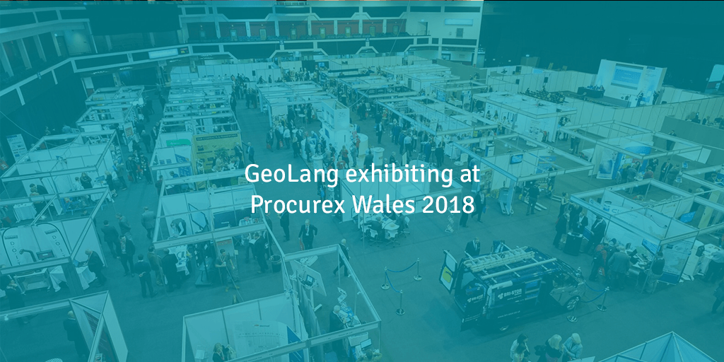 GeoLang exhibiting at Procurex Wales 2018