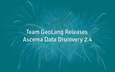 Team GeoLang Releases Ascema Data Discovery 2.4